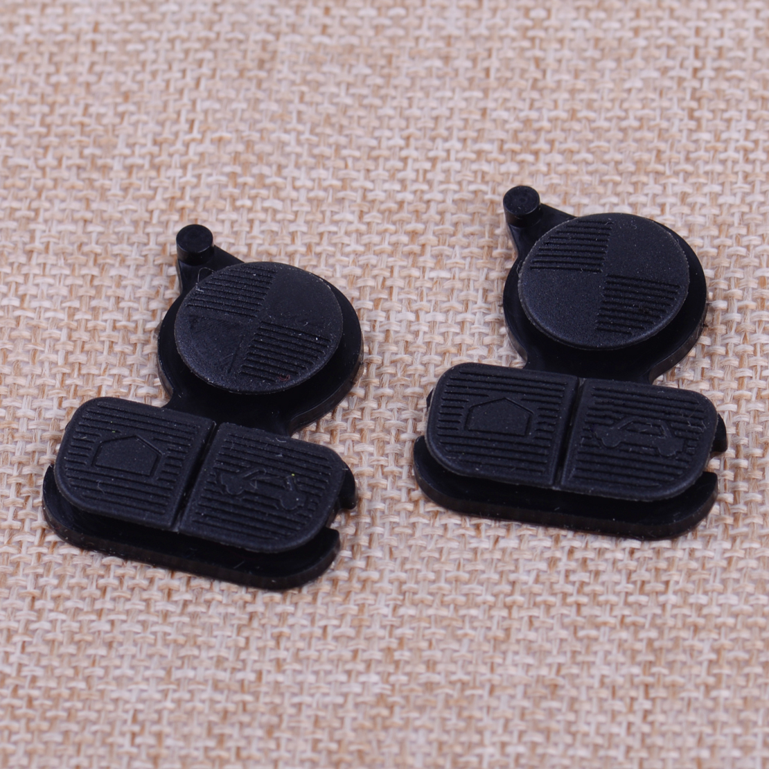 2pcs Auto Remote Key 3 Buttons Pad Replacement Fit For Bmw